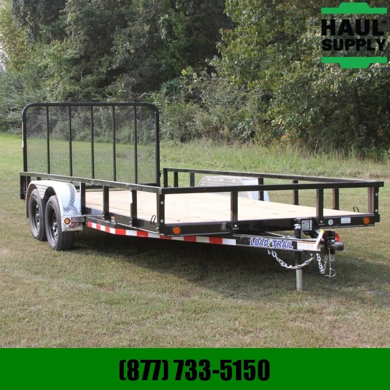 Load Trail 83X18 7K Utility w/Dexter axles 4ft Fold-