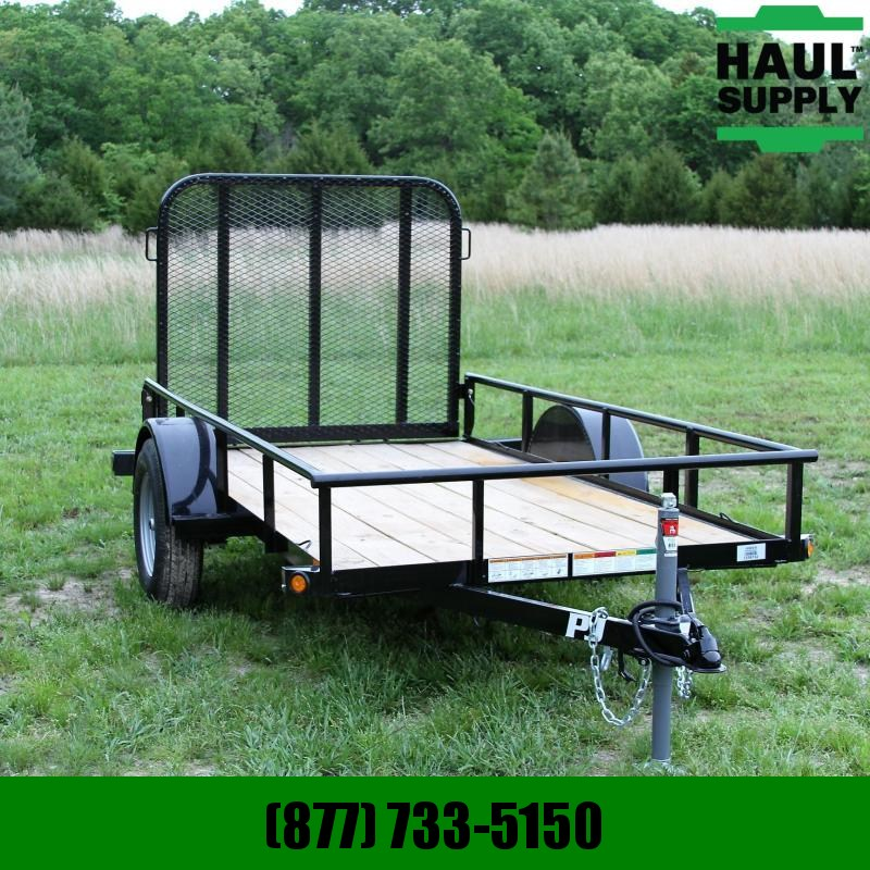 PJ Trailers 60X10 Angle Utility Trailer with 4ft Gate