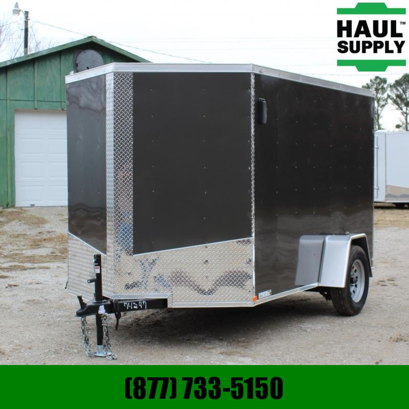 Lark 6X10 V-NOSE CARGO TRAILER REAR RAMP SIDE