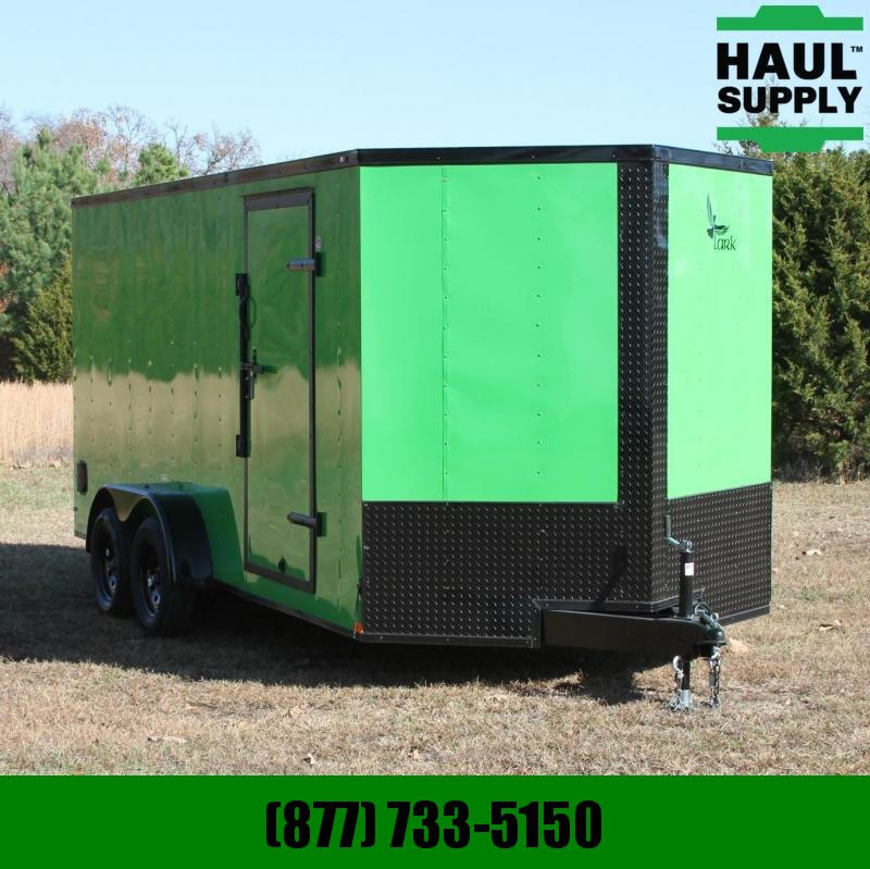 Lark 7X16 7K V-NOSE CARGO TRAILER XT REAR RAMP