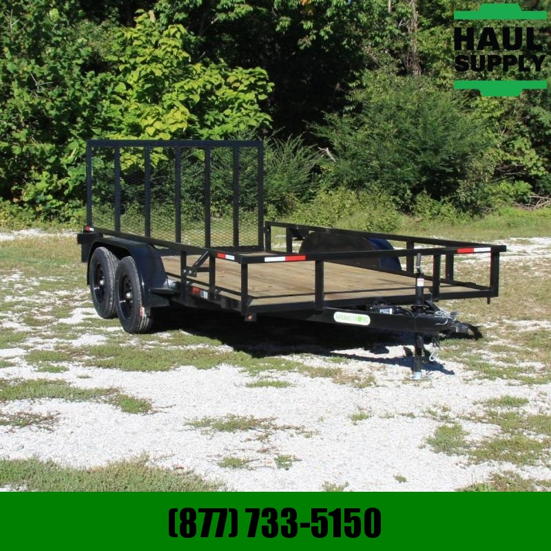 Wicked Trailer Manufacturing 82X14 7K UTILITY TRAILER TUBE TOP 4FT GAT