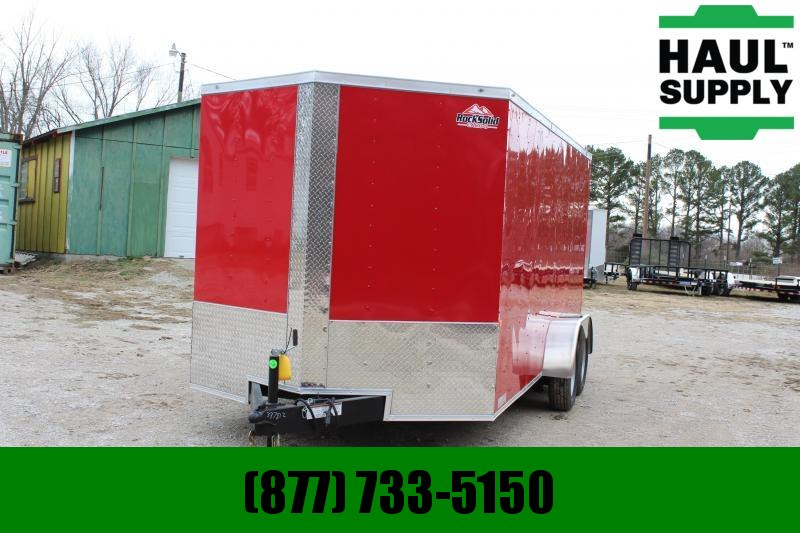 Rock Solid Cargo 7X16 7K V-NOSE CARGO TRAILER REAR RAMP SI