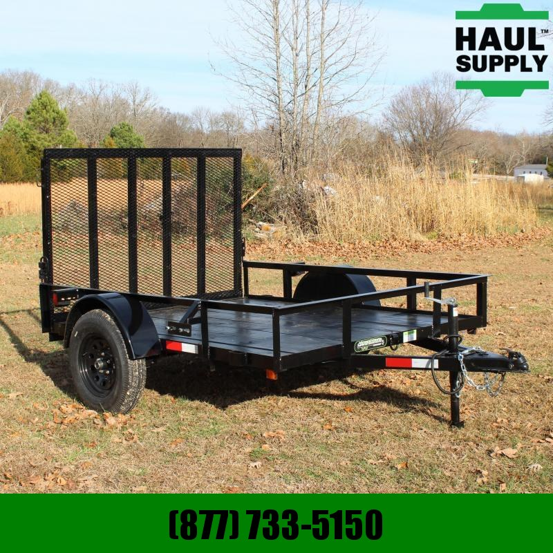 Wicked Trailer Manufacturing 76X8 UTILITY TRAILER TUBE TOP 4FT GATE