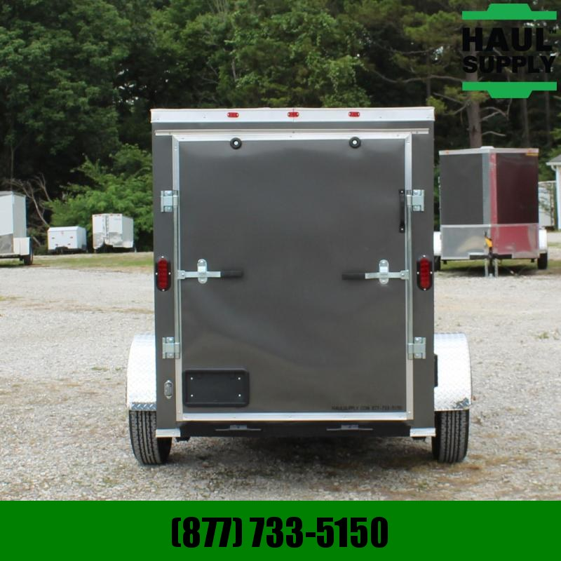 Traveler Cargo 5X10 V-nose Cargo Trailer XT Rear Ramp Si