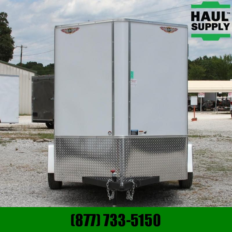 H and H Trailer 6X10 V-nose XT Cargo Trailer Rear Ramp RV