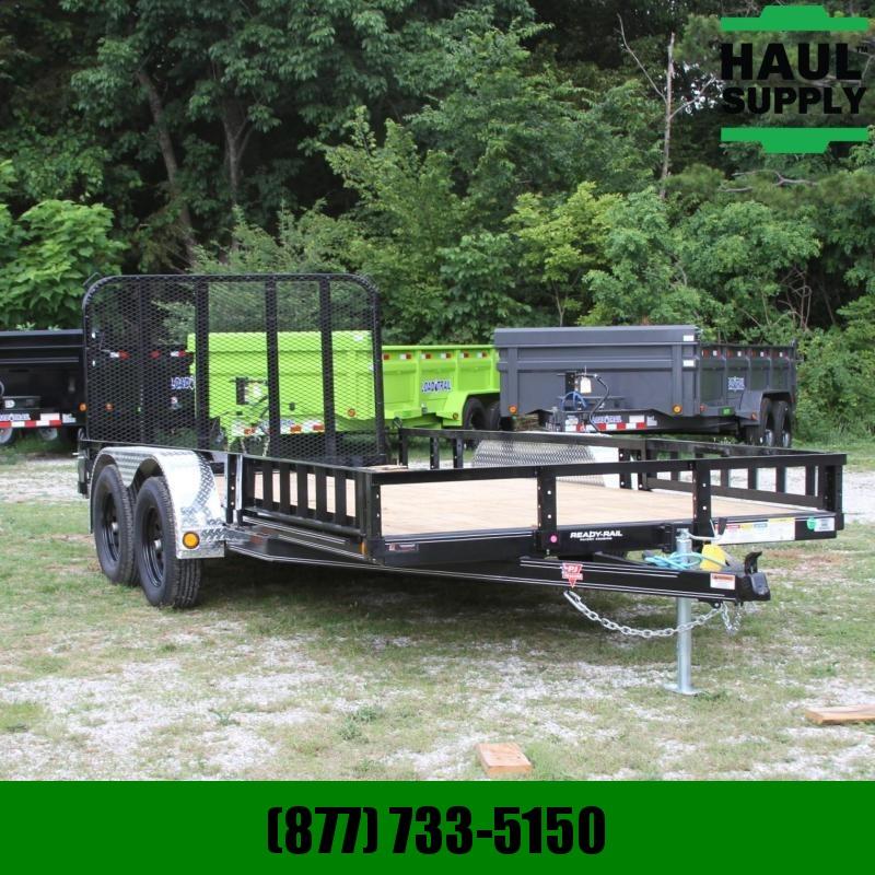PJ Trailers 83X16 7K CHANNEL UTILITY TRAILER ATV RAMP