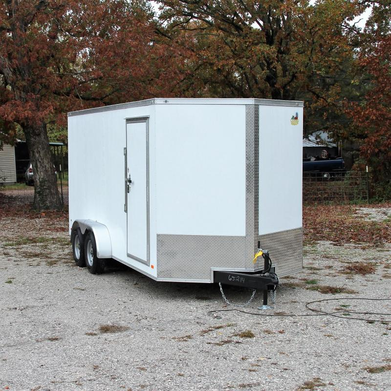 Covered Wagon Trailers 7X16 7K XXT V-nose Cargo Trailer Rear Ram
