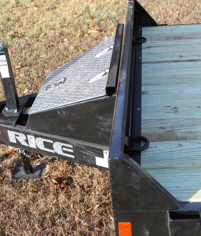 Rice 82X20 10K OPEN CAR HAULER TRAILER 2FT TRE
