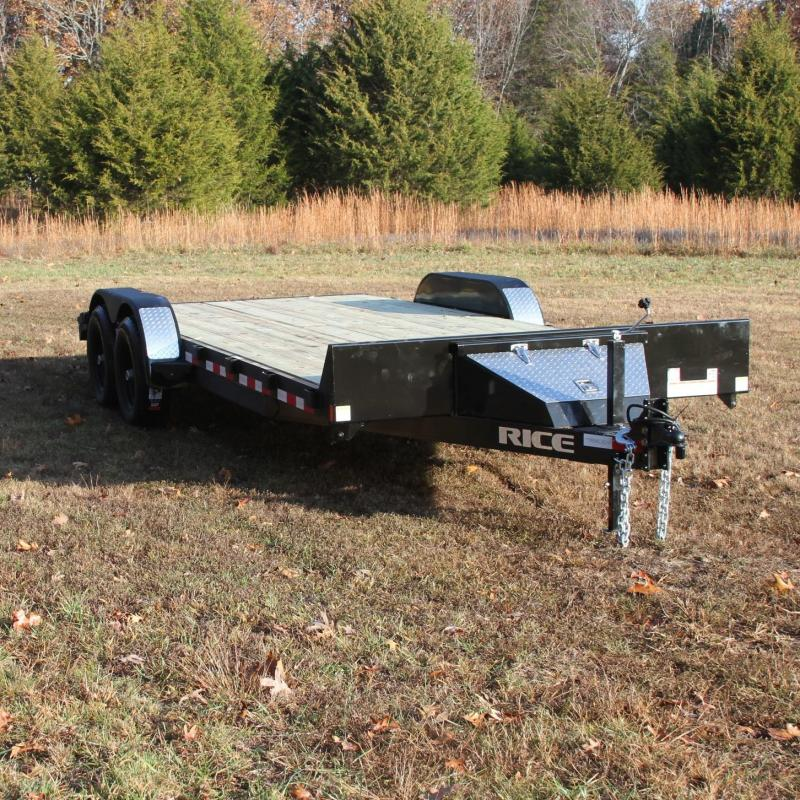 Rice 82X20 10K OPEN CAR HAULER TRAILER 2FT TRE