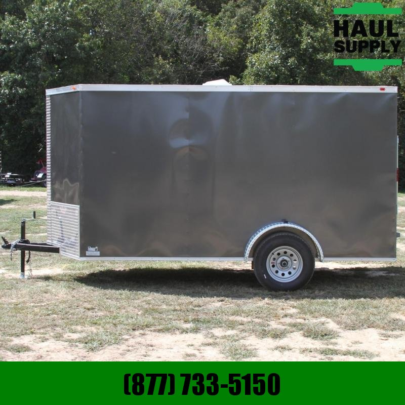 Traveler Cargo 6x12 V-nose Enclosed Cargo Trailer w/ Rea