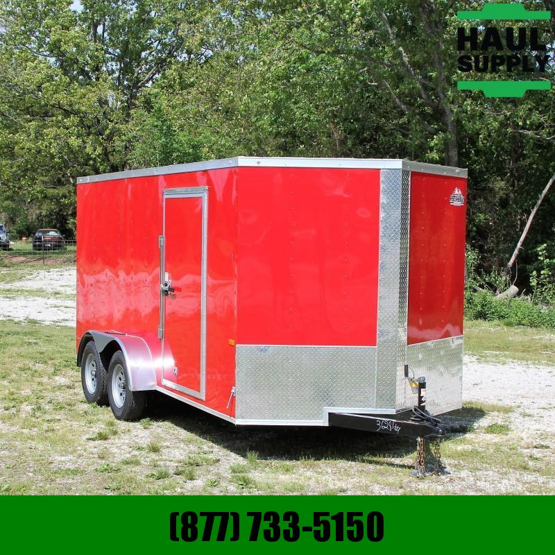Rock Solid Cargo 7X14 7K V-NOSE CARGO TRAILER REAR RAMP RO