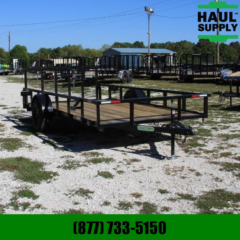 Wicked Trailer Manufacturing 76X14 UTILITY TRAILER 3FT GATE RADIALS
