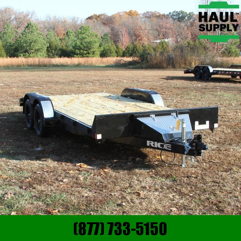 Rice 82X18 7K OPEN CAR HAULER  2FT DOVETAIL 5F