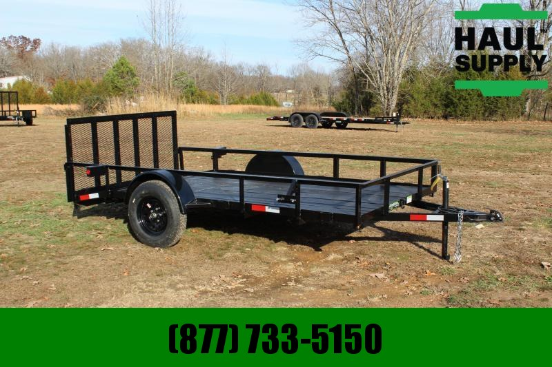 Wicked Trailer Manufacturing 76X12 UTILITY TRAILER W/DOVETAIL AND REAR