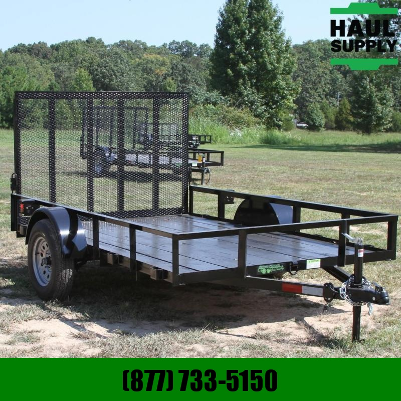 Wicked Trailer Manufacturing 76X10 TUBE TOP UTILITY TRAILER 4FT GATE