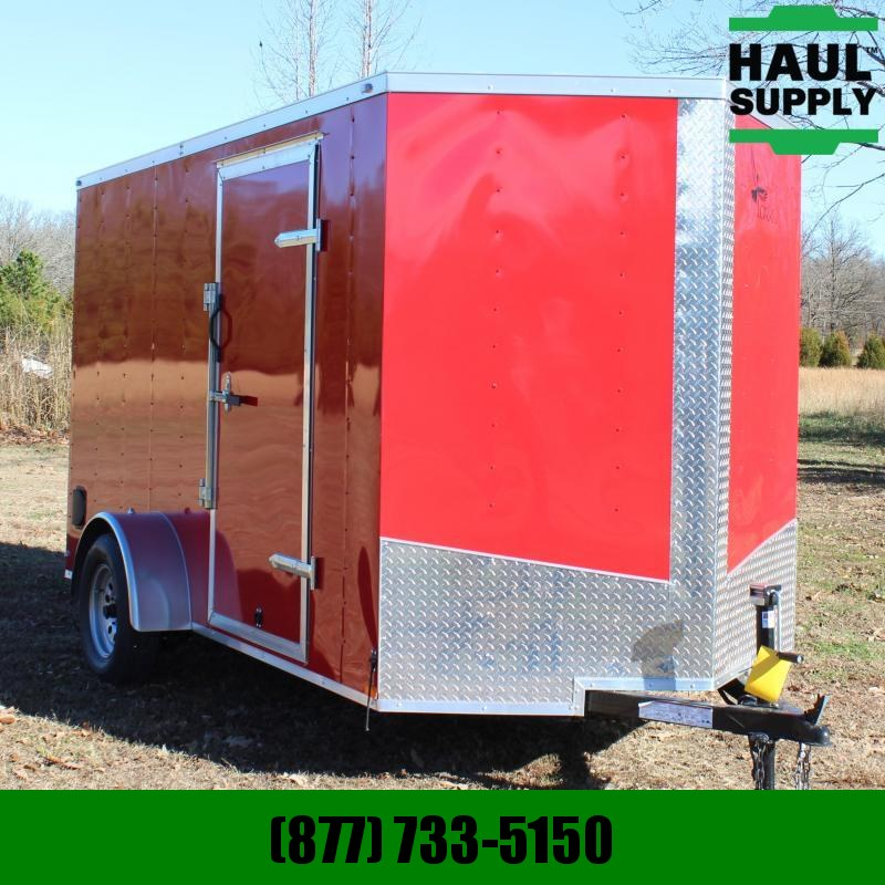 Lark 6X12 V-NOSE XT CARGO TRAILER REAR RAMP SI