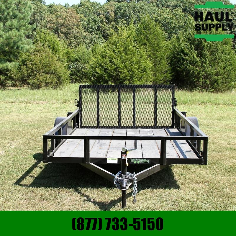 Wicked Trailer Manufacturing 76X12 SINGLE AXLE UTILITY 10FT + 2FT DOVE