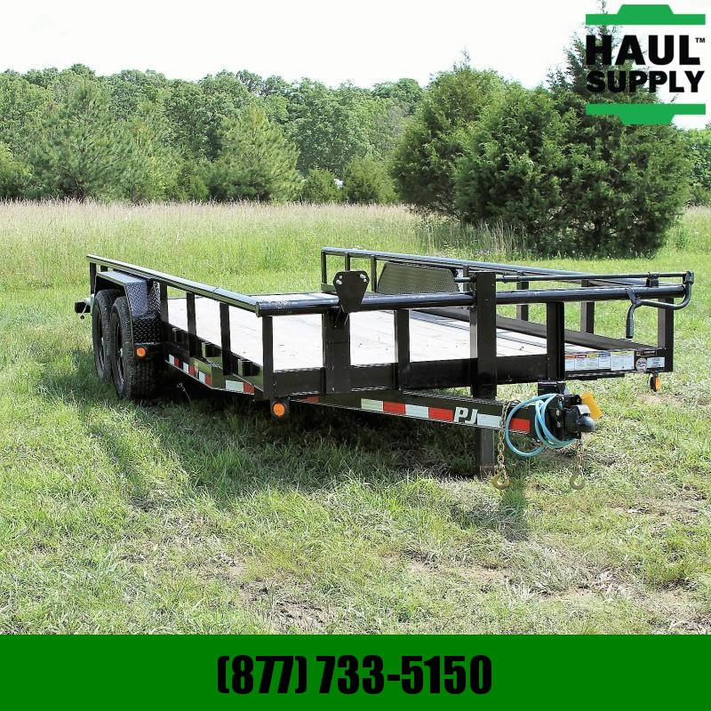 PJ Trailers 83X20 14K Equipment Trailer 3in crossmemb