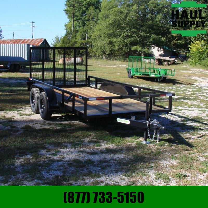 Wicked Trailer Manufacturing 76X14 7K UTILITY TRAILER TUBE TOP 4FT GAT