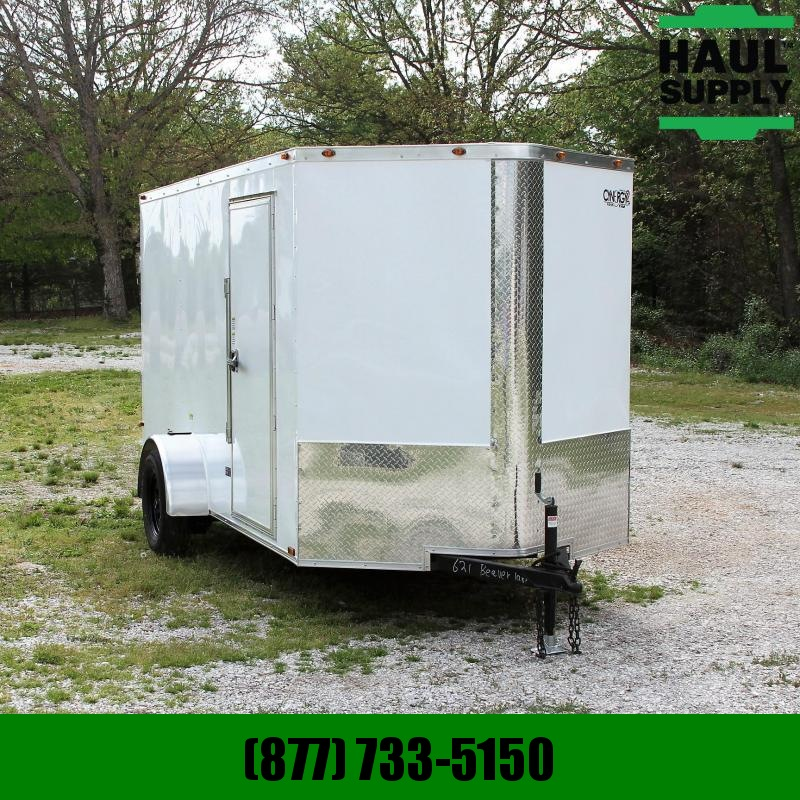 Cynergy Cargo 6X12 V-NOSE CARGO TRAILER REAR RAMP ROOF