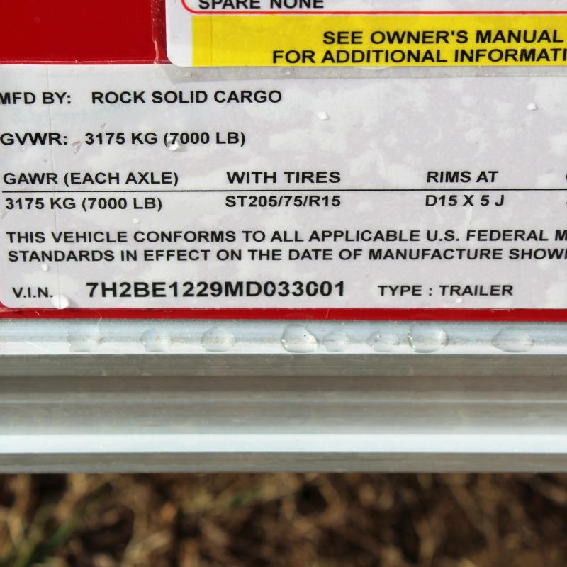 Rock Solid Cargo 6X12 7K V-NOSE THERMOPLY UPGRADE REAR RAM