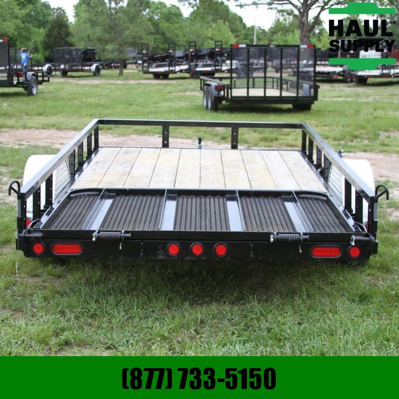 PJ Trailers 77X12 Channel utility trailer w/treated w
