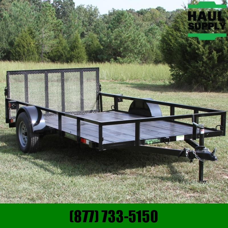 Wicked Trailer Manufacturing 76X12 UTILITY TRAILER W/2FT DOVE 3FT REAR