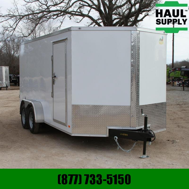 Covered Wagon Trailers 7X16 7K V-NOSE CARGO TRAILER DOUBLE REAR