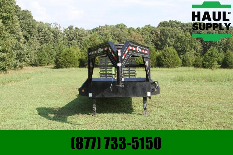 PJ Trailers 83X32 TANDEM AXLE GOOSENECK  STAND UP RAM