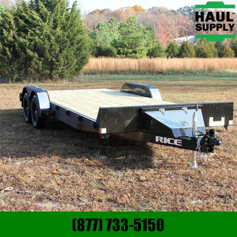 Rice 82X20 7K OPEN CAR HAULER BLACK