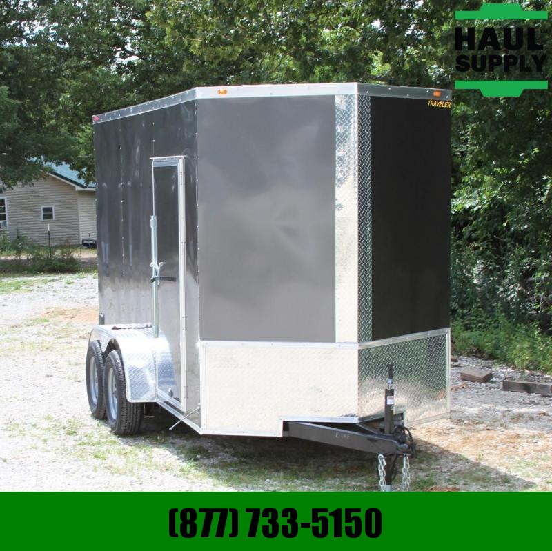 Traveler Cargo 6X12 V-nose 7K Cargo Trailer XXTRear Ramp