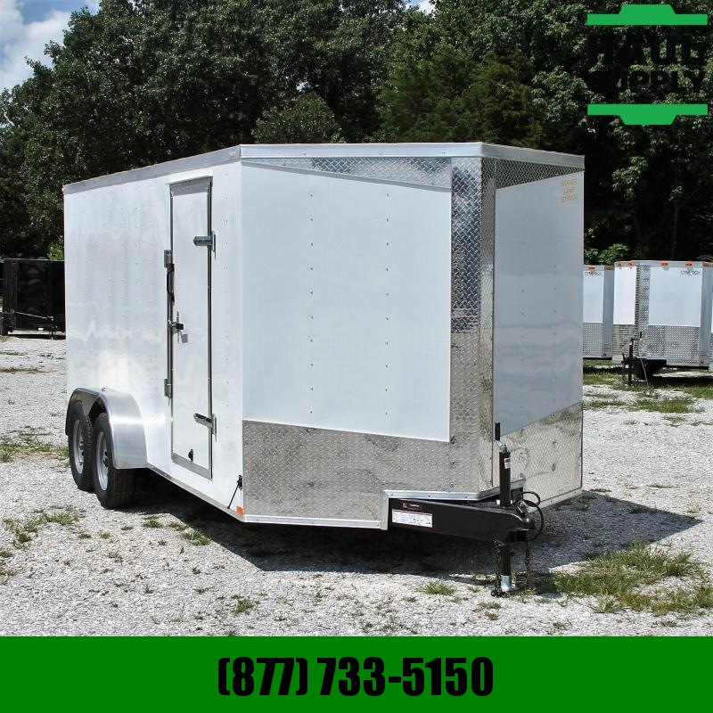 Lark 7X16 7K V-nose Cargo Trailer Rear Ramp Si