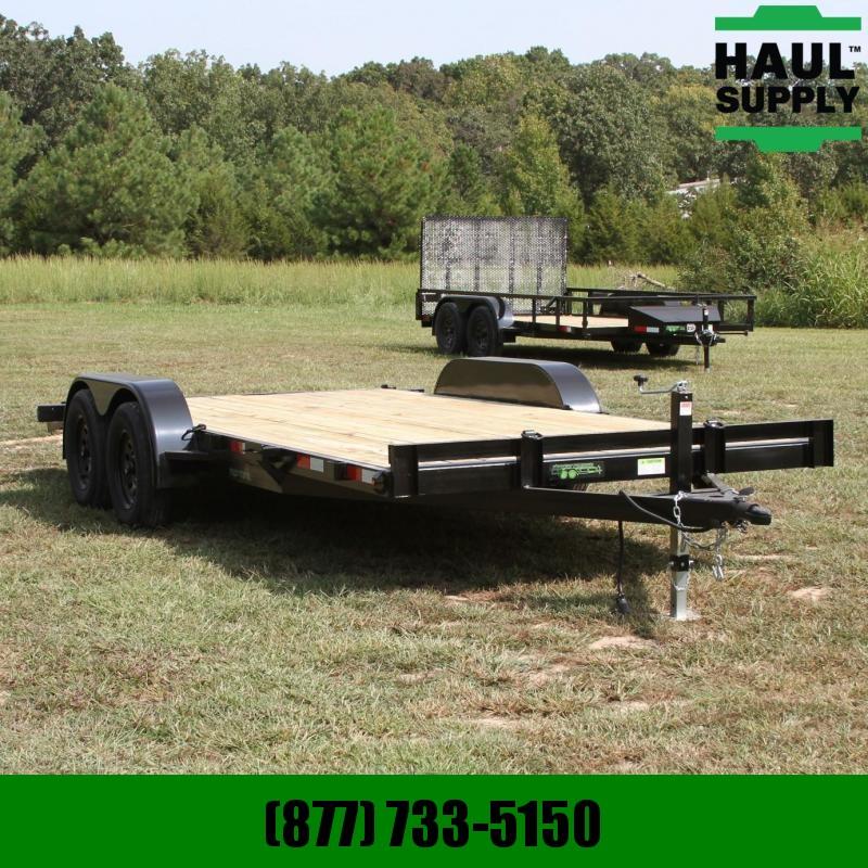 Wicked Trailer Manufacturing 82X18 7K Open CarHauler Dovetail w/5'Slid
