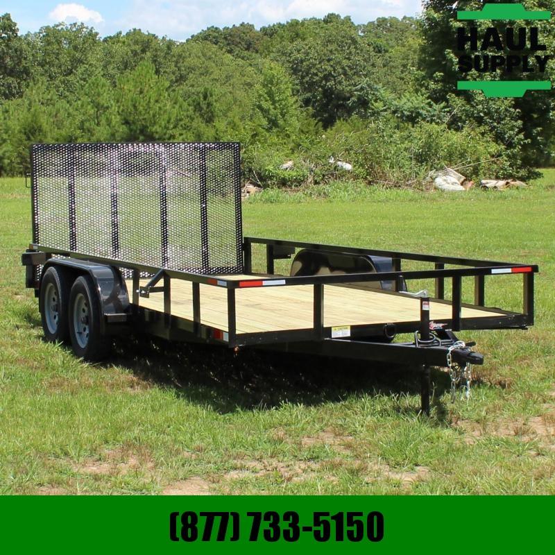 Stingray LLC 82X16 7K UTILITY TRAILER 4FT REAR GATE RA