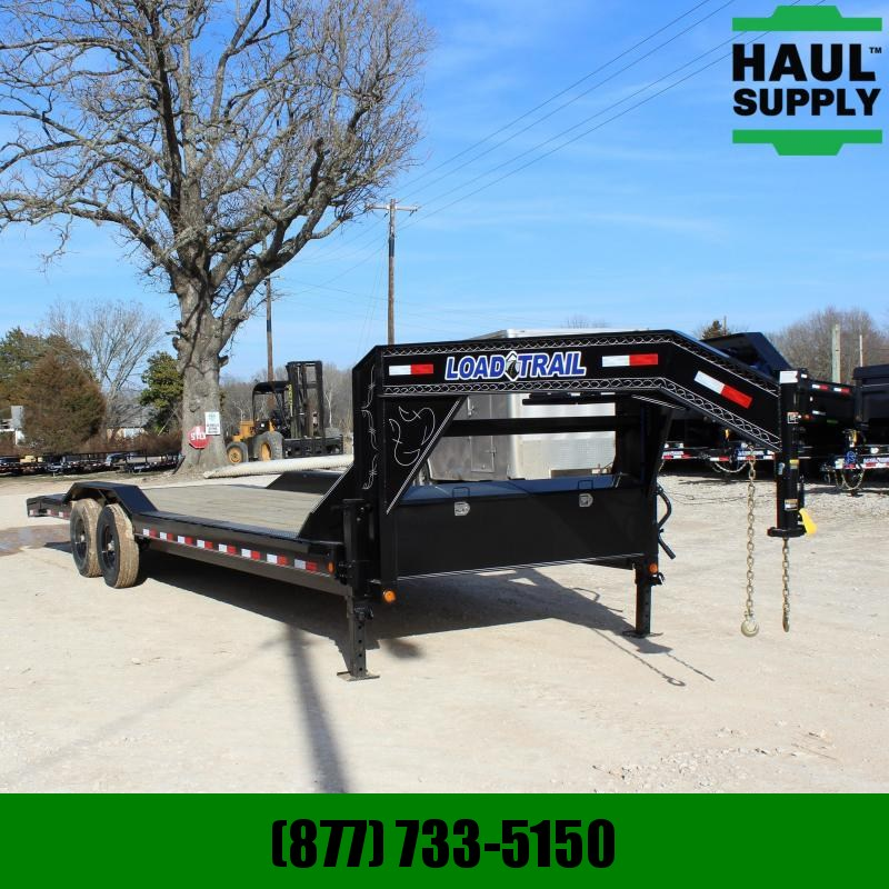 Load Trail 102X26 14K GOOSENECK OPEN CAR HAULER 2FT
