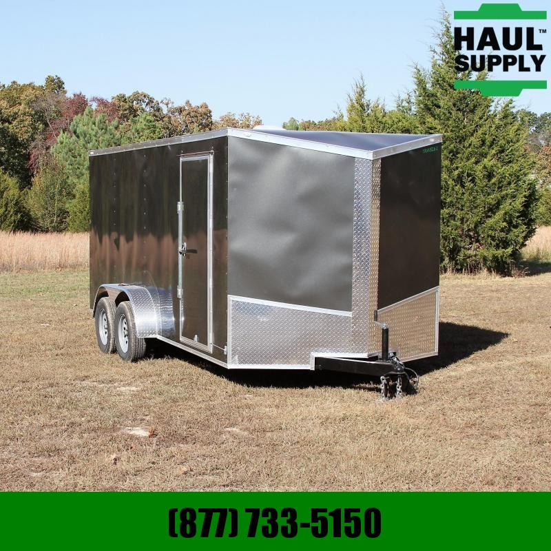 Traveler Cargo 7X16 7K V-nose Cargo Trailer Rear Ramp Si