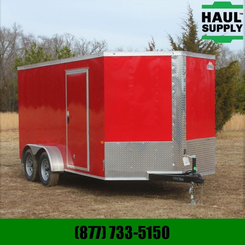 Rock Solid Cargo 7X14 7K V-NOSE CARGO TRAILER REAR RAMP LE