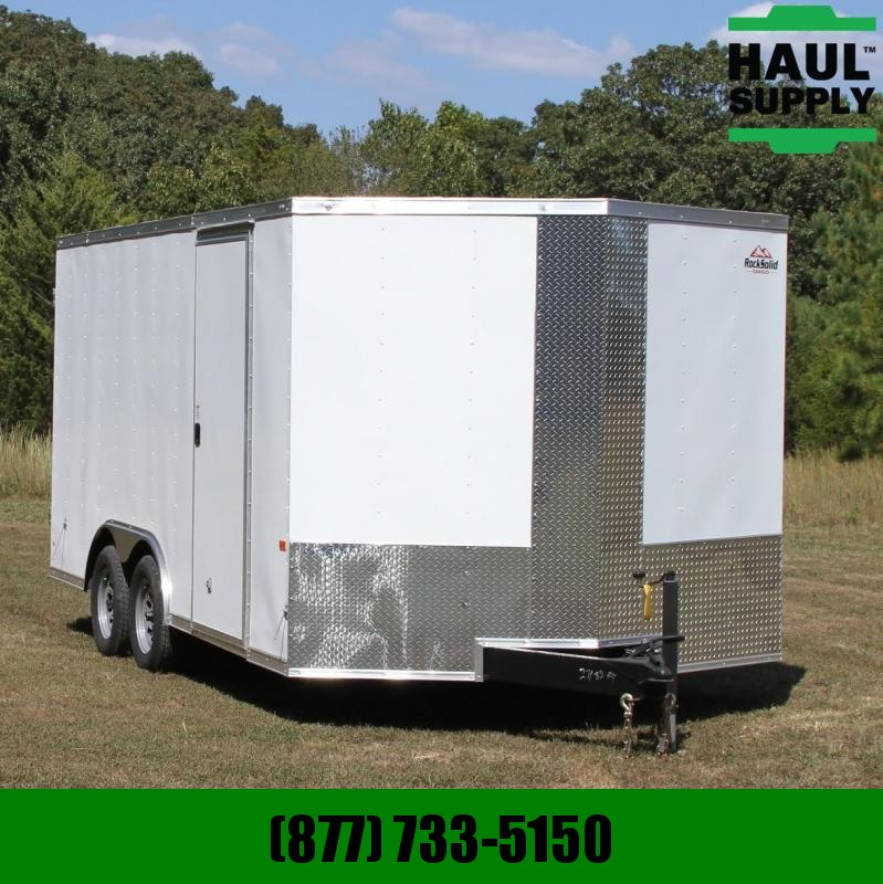 Rock Solid Cargo 8.5X16 7K V-NOSE CARGO TRAILER DOUBLE RE