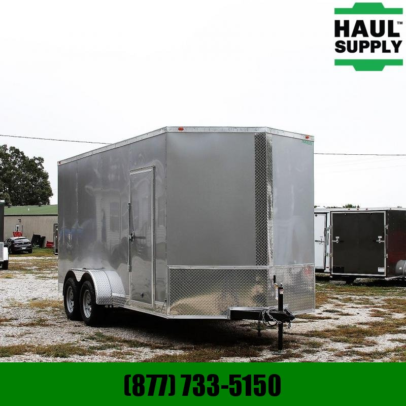 Traveler Cargo 7X16 7K V-nose XXT Cargo Trailer Rear Ram