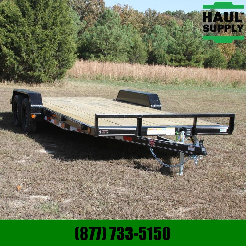 PJ Trailers 83X20 7K Open Car Hauler 4in Channel 2ft