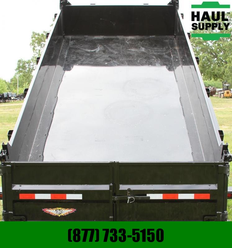 H and H Trailer 83X14 14K Gooseneck Dump 8in Steel channe