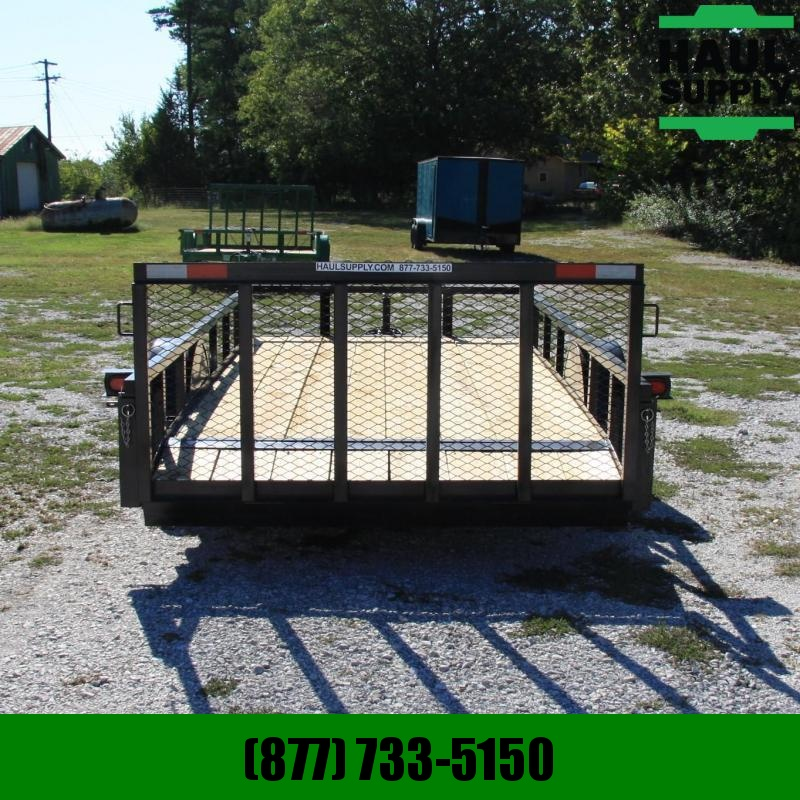 Wicked Trailer Manufacturing 76X14SA  UTILITY TRAILER W/2FT DOVE 3FT G