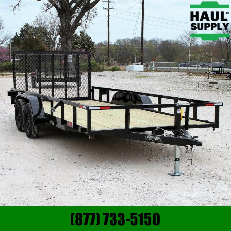 Wicked Trailer Manufacturing 82X18 7K UTILITY TRAILER 4FT RAMP GATE