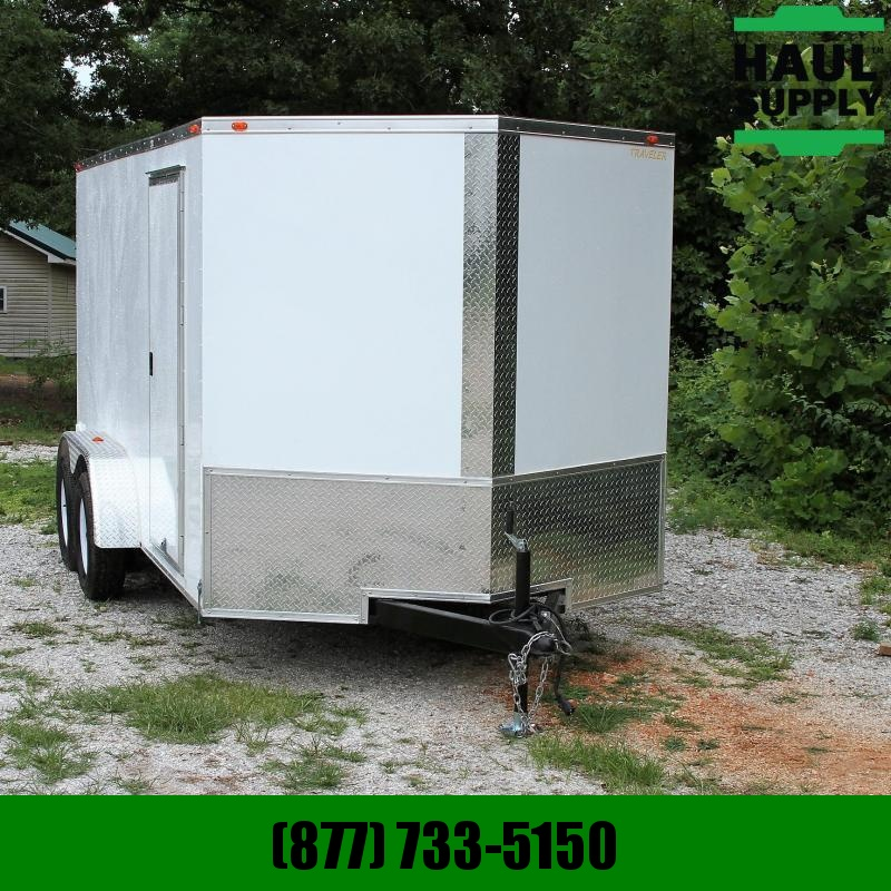 Traveler Cargo 7X14 7K V-nose Cargo Trailer Rear Ramp Ro
