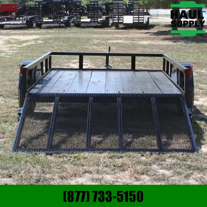 Wicked Trailer Manufacturing 76X10 Utility Trailer with rear gate Trea