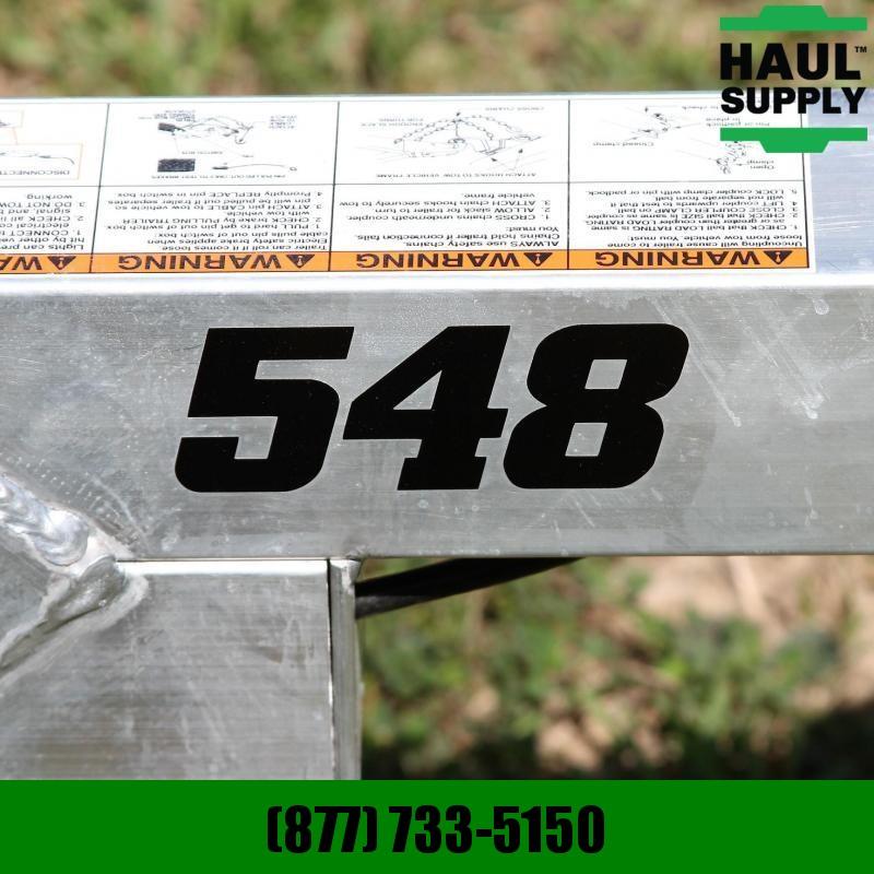 Aluma 54X8 UTILITY ALUMINUM TRAILER STRAIGHT TA