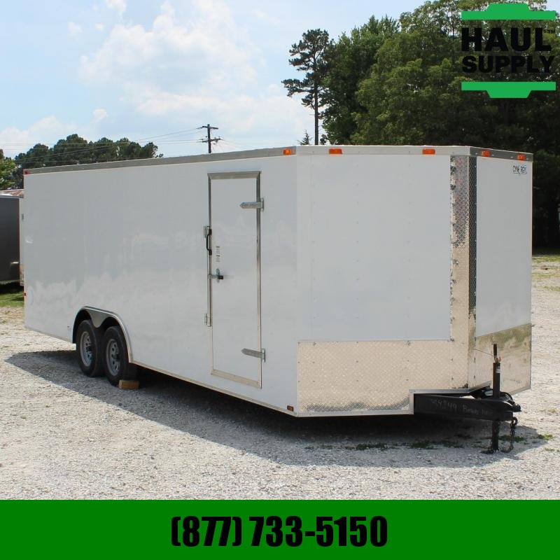 Cynergy Cargo 8.5X24 V-nose 7K Enclosed Car Hauler RR S