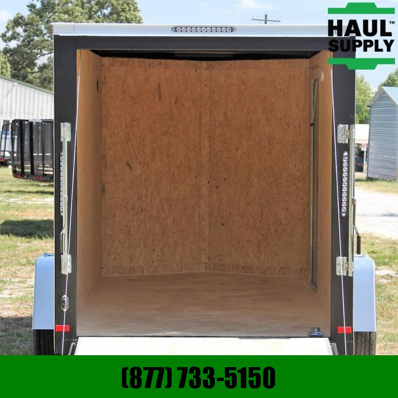 Covered Wagon Trailers 6X12 V-NOSE CARGO TRAILER REAR RAMP ROOF
