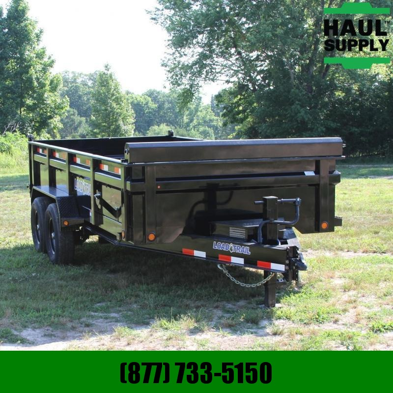 Load Trail 83X16 14K Dump w/ Tool Box Roll up Tarp S