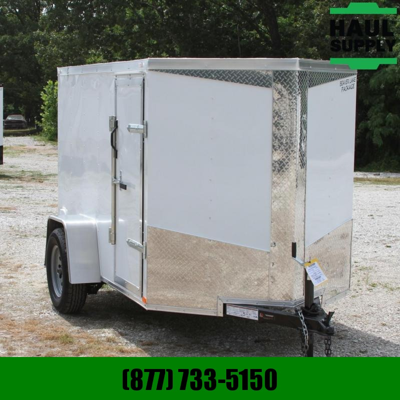 Lark 5X10 V-nose Cargo Trailer Rear Ramp Side